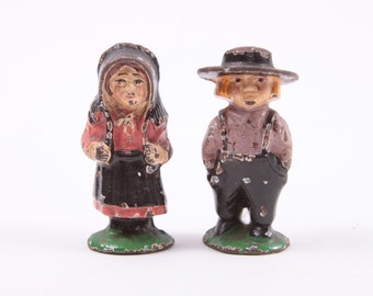 Antique Cast Iron or Lead Amish Farmer Figures