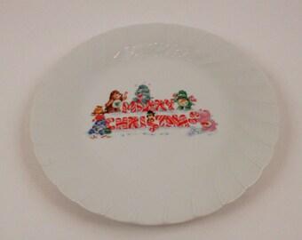 Vintage Care Bears Porcelain Plate 1985 Christmas