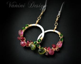 Sakura- Fine/sterling silver,14k gold fill,gemstones earrings