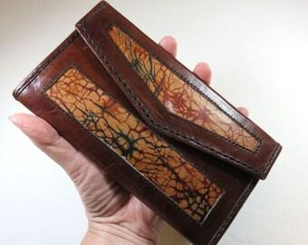 SJK Vintage -- Bali Indonesia Leather Wallet from Bedugal Mini Mart (1980's)