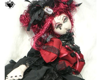Scarlet Marionette - A Gothic OOAK Art Doll