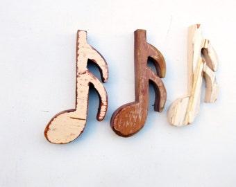 Three Sixteenth Notes, Musical Decor, Music Room Decor, Reclaimed Wood Art, Music Teacher Gift, Musical Decor, Musician Gift