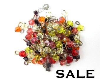 Vintage Warm mix of Swarovski Bicone Beaded Charms (24X) (S554) SALE - 25% off