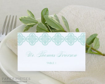 Trellis Place Cards, Vintage Formal Tented Wedding Place Cards Deposit to Get Started