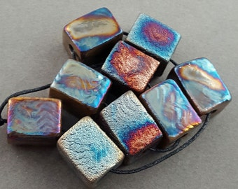 Raku Bead Mix Of 9