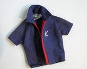 Vintage Ken Doll Clothin: Original Blue/Red Jacket for Model #750 Doll 1965 Collectible