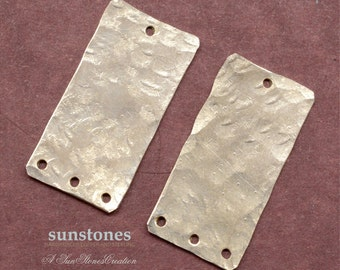 Handmade Nickel Silver Earring Components - Multiple Bottom Holes - 2 pieces EC263
