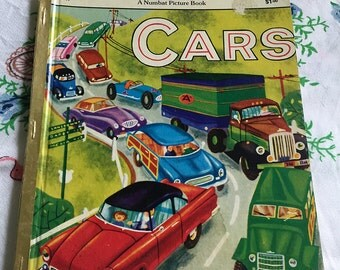 Vintage children's book 'Cars' by Numbat (like Little Golden Books)