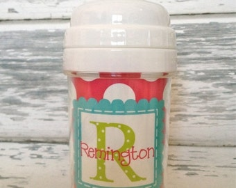 ON SALE personalized PREPPY girl spill proof sippy cup