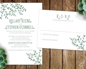 Whispering Ivy Wedding Invitation