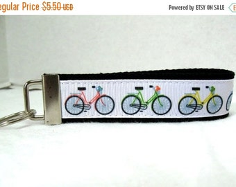 40% Off Bicycles Key Fob Black Key Chain Wristlet
