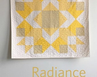 Radiance, a PDF modern quilt pattern in two sizes, by Heather Jones