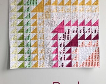 Dash, a PDF modern quilt pattern in two sizes, by Heather Jones