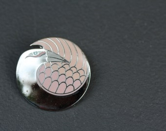 VINTAGE Laurel Burch MYNAH BIRD pin / brooch
