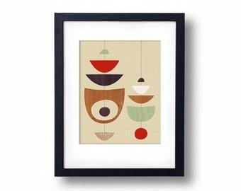 Giclée Print - Tan Mobiles