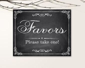 Printable Wedding Signs, Chalkboard Wedding Signs, Favors Wedding Signs PDF, JPG files - Chalkboard