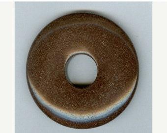 SALE 50mm Brown Agate PI Donut Pendant 227T