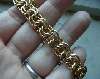 FREE SHIPPING Vintage Goldtone Chunky Chain Monet Bracelet