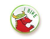 I Bike - round magnet