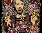 Giclee print Kurt Cobain Angel