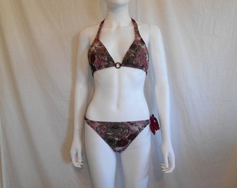 90's bathing suit swim suit bikini two piece floral
