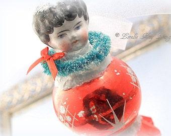 Retro Art Doll Ornament Christmas Ornament Cute Kitschy China Doll Art Doll Ornament