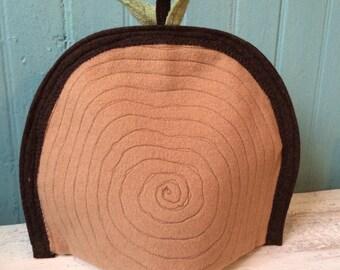 Sawed Log Tea Cozy made from rePurposed Wools