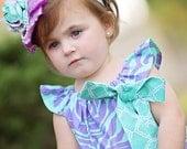 Girls Flower Dress- Girls Spring Dress- Girls Purple Dress