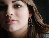 Dangle Earrings - Silver Earrings - Drop Earrings - Geometric Earrings - Statement Earrings - Everyday Earrings - Ready to ship E3011