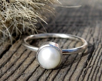 20% OFF Labor Day Sale Fresh water pearl sterling silver ring