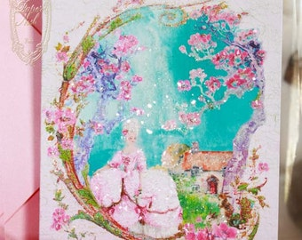 Pink Cherry Blossom Spring for Marie Antoinette Cards