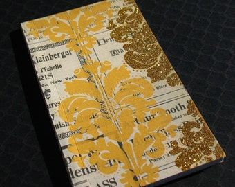 Gold Damask  - Softcover Notebook Journal