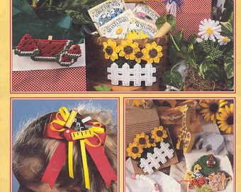 Magnets & More ~ plastic canvas leaflet ~  Leisure Arts instructions ~   USED