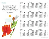 2016 Calendar - Motivational Quote Art - Fairy Art - Wayne Dyer Quote