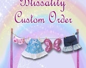 Custom for Nelda 7 to 8 inch Doll Dress,