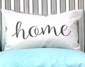 White Linen Blend Grey Home Design Pillow SLIP COVER
