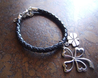 Luck of the Irish Leather Charm bracelet