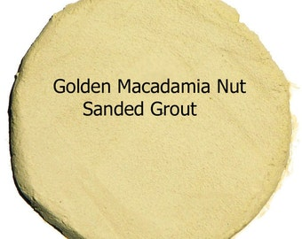 Golden MACADAMIA NUT Mosaic Tile Grout 5 Pounds Sanded Polymer Fortified for Craft Tiles and Home Projects Just Add Water