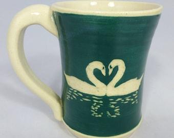 Two Swans Love Mug