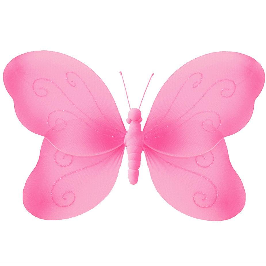 Dunkel Rosa Magenta Nylon Schmetterling Dekoration F R Wand