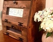 Rustic Bread Box Vegetable Bin wooden Punched Tin Storage Primitive Cupboard Onion Potatoes Country Kitchen handmade wood woodworking