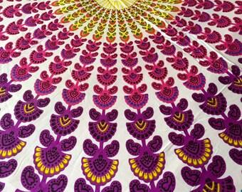 Bohemian Hippie Tapestry Fabric - Ancient Mandala