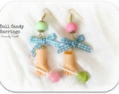 Doll Candy Earrings- Vintage Doll parts - Lollipop