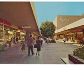 Vintage Riverside Plaza Mall Postcard California