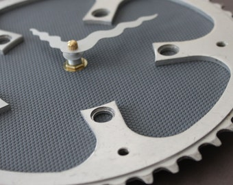 Bicycle Gear Clock - Modern Gray  |  Bike Clock  | Wall Clock | Recycled Bike Parts Clock