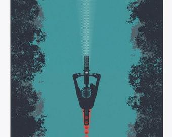 The Beacon - Screen Printed Bike Art Poster 18x24
