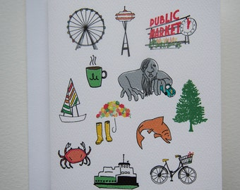 Greetings from Seattle Card