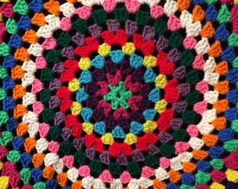 Colorful Crochet Granny Circle Car Spare Tire Tyre Cover