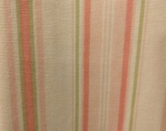 Pink and Green Stripe Fabric