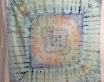 Mandala - Modern Shibori - 1 yard HAND DYED FABRIC - Cotton -  tr160